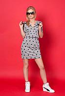 Стильное женское платье с резинкой на талии