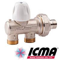 Icma 886 ручной вентиль 1/2 - 24х1,5 с фронтальным управлением