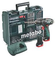 Metabo PowerMaxx SB Basic Мобильная мастерская (63 шт.): Акуу. Ударная дрель-шуруповерт 10.8 В; Аккумулятор: 2xLi-Power 2.0 Ач; Зарядное устройство LC