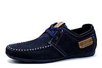 Спортивные туфли Falcon, мужские, натуральная кожа, синие, фото 1