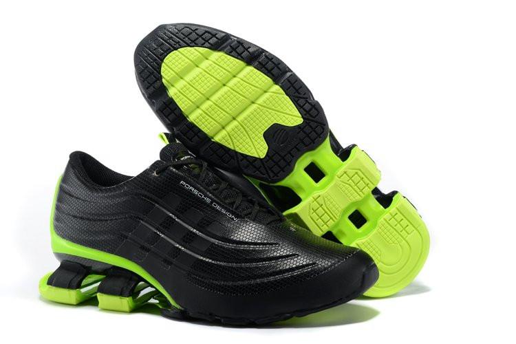 0008079f Кроссовки мужские Adidas X Porsche Design Sport BOUNCE S4 Black Green (в  стиле адидас порше) черные
