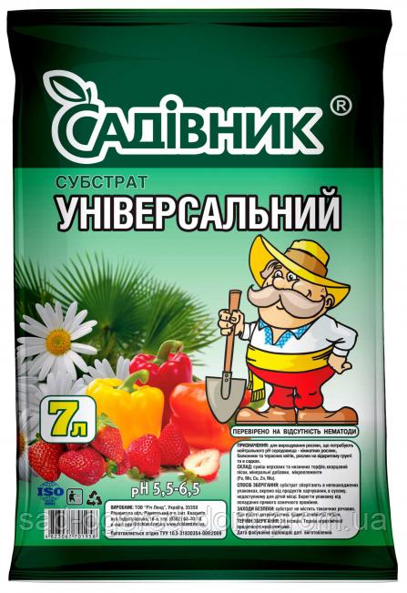 Субстрат универсальный 3л  САДОВНИК