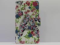 """Чехол для смартфона универсальный 4,3"""" цветы на белом, фото 1"""