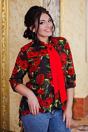 Рубашка женская - д1027/1 размеры 50-56 , фото 2