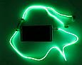 Светящиеся проводные вакуумные наушники с микрофоном Glow MDR 618 Blue пульсируют в такт музыке, фото 6