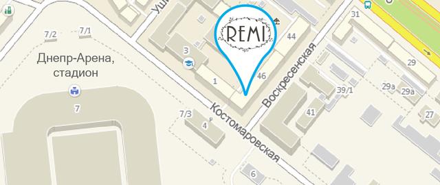 """Салон """"REMI"""" на карте Днепропетровска"""