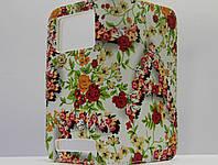 """Чехол для смартфона универсальный 5"""" красные цветы на белом, фото 1"""