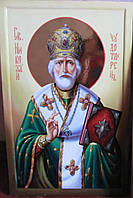 Икона  Св. Николая Чудотворца писаная на ковчежной доске