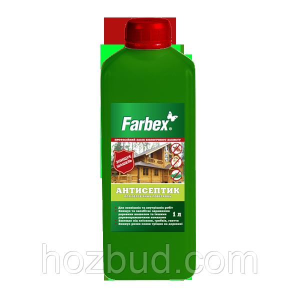 Антисептик для деревянных поверхностей Farbex, 1 л