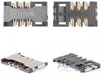 (Коннектор) Aksline Разъем SIM-карты Fly IQ4405 Quad Evo Chic / IQ4413 Quad EVO Chic 3