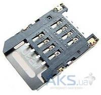 (Коннектор) Aksline Разъем SIM-карты HTC A510e Wildfire S