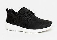 Блестящие женские кроссовки для бега черные