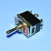 Тумблер KN3(C)-203  2x3pin ON-OFF-ON  PRK0031-3