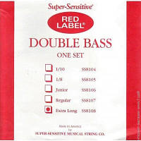 Струны Super-Sensitive SS8108 Red Lable Double Bass Extra Long