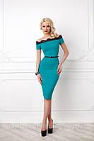 Вечернее ошеломляющее платье  вечернее бирюзового цвета 144