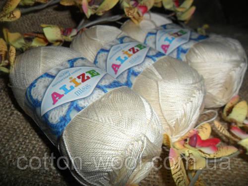 Alize Miss (Ализе Мисс) 100% мерсеризованный хлопок 62 молочный