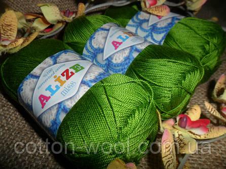 Alize Miss (Ализе Мисс) 100% мерсеризованный хлопок 479 зеленый