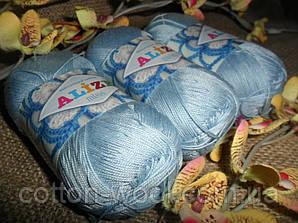 Alize Miss (Ализе Мисс) 100% мерсеризованный хлопок 480 светло-голубой
