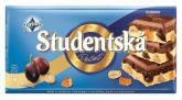 Шоколад Studentska бело-черный с изюмом, 180 г
