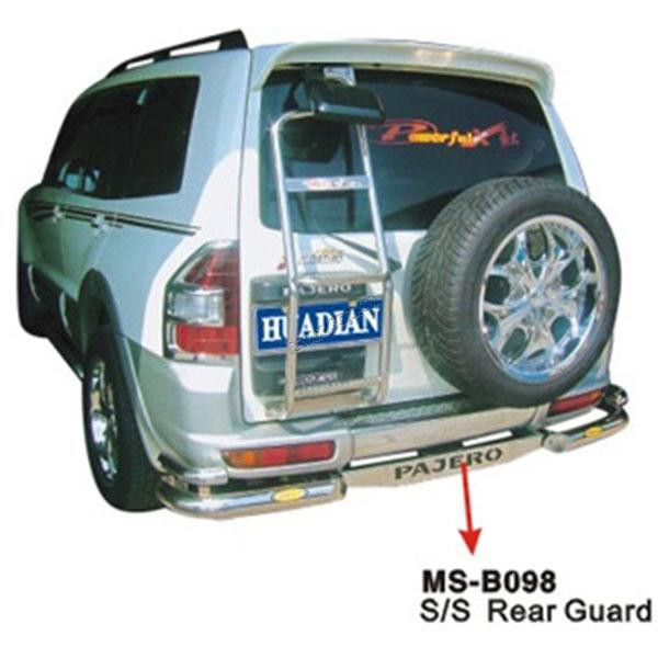 Защитная дуга заднего бампера Mitsubishi Pajero Wagon III (2000 ― 2006)