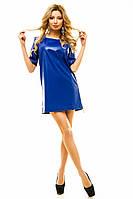 Женское короткое кожаное платье