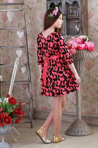 Красивое, стильное детское платье с цветочным принтом., фото 2