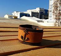 """Кожаный мужской аксессуар браслет с якорем """"TOR"""" от BRUTAL (Hand Made)"""