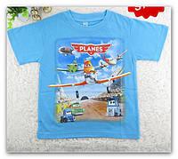 """Футболка для мальчика голубая с 3-D принтом """"Летачки"""", фото 1"""