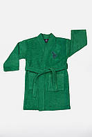 Детский махровый халат U.S. Polo Assn USPA KOYU YESIL 7- 8 лет. зеленый