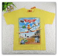 """Футболка для мальчика желтая с 3-D принтом """"Летачки"""", фото 1"""