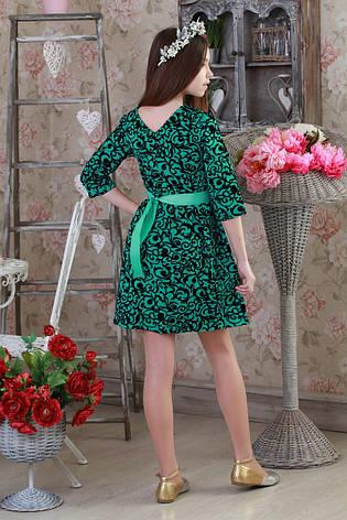 Стильное праздничное детское платье с цветочным принтом., фото 2