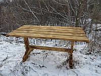 Стол для дачи. Деревянный стол. Стол из дерева.