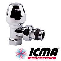 Icma 1116 вентиль для полотенцесушителя 1/2 угловой хромированный