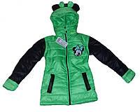 Детская куртка жилетка на девочку весна осень (рост 98-140 см)