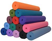 Коврик для йоги - коврик для спорта, фитнеса 6 мм, разные цвета