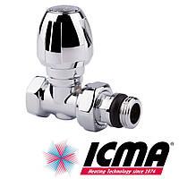 Icma 1117 вентиль для полотенцесушителя 1/2 угловой хромированный