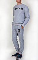 Спортивный костюм мужской Reebok серый (Рибок)