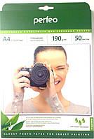 Perfeo A4 190 г/м2 глянцевая (glossy) односторонняя 50 листов