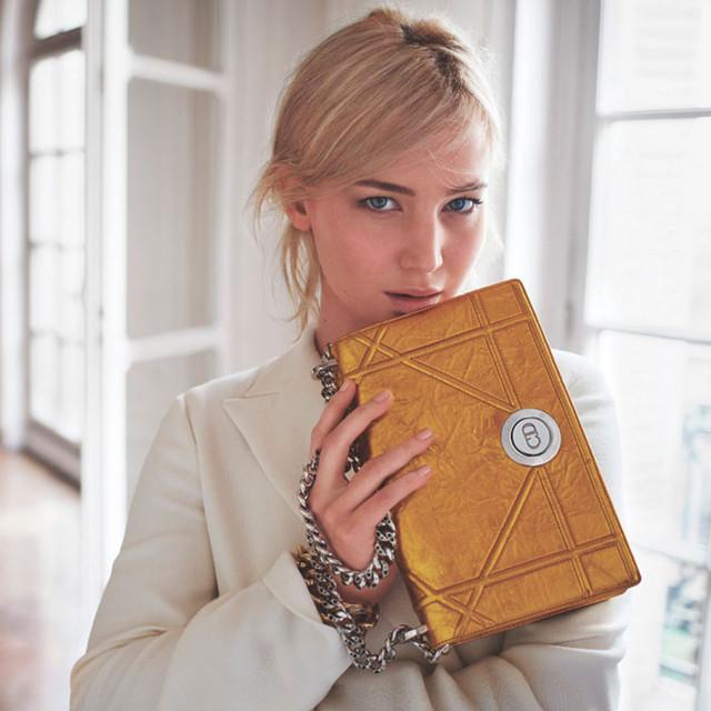 Презентация коллекции сумочек Diorever от Дженифер Лоуренс.
