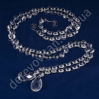 Гирлянды из кристаллов, овал (акрил), 1,10 м, 2 шт.