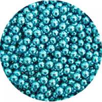 Шарики декоративные,голубой металлик d 3-2 мм.10г/уп