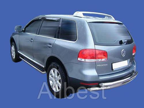 Защита заднего бампера Volkswagen Toureg (02-09)