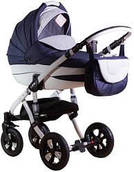 Детская коляска универсальная 2 в 1 Adamex Avila кожа 50% 710S (Адамекс Авила, Польша)
