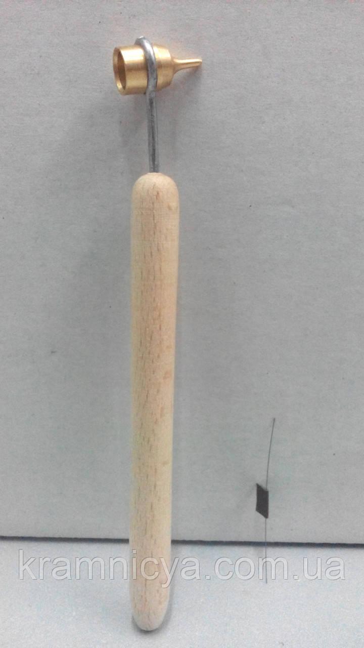 Писачок для росписи воском с тонкой деревянной ручкой