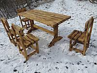 Набор садовой мебели. Стол +4 стула. Мебель для дачи, фото 1