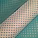 Хлопковая ткань  белый горох на светло-бирюзовом 10 мм (1 см), фото 6