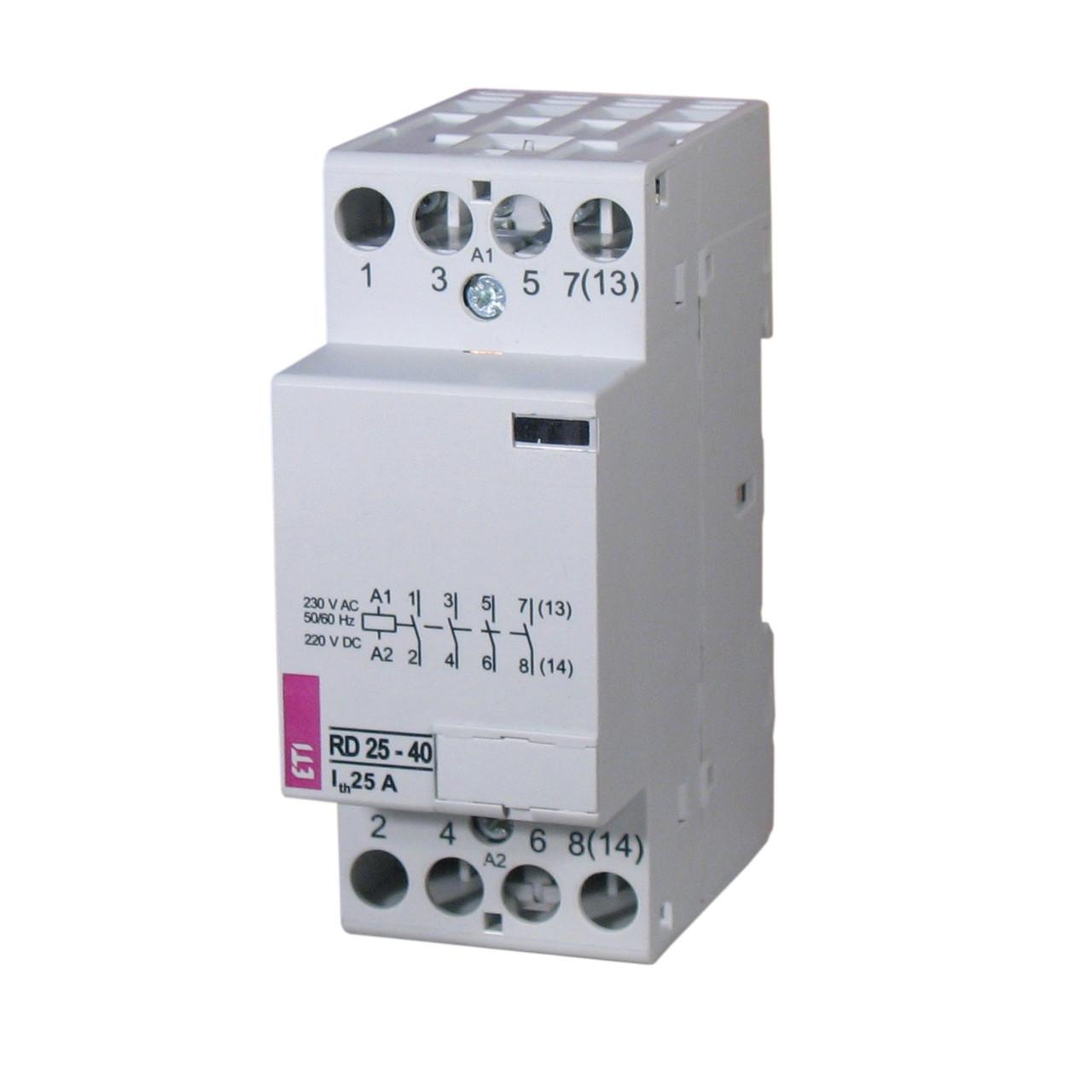Модульный контактор ETI RD 25-40 230V AC/DC