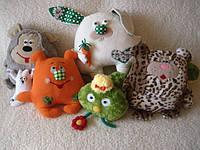Игрушки-подушки зверушки Handmade