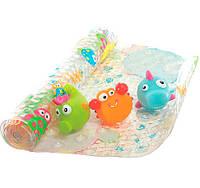 Набор коврик для ванны + 3 игрушки