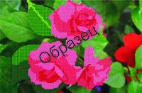 Схема для вышивки бисером «Куст роз»